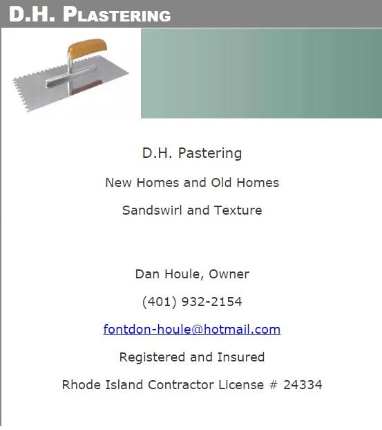 D.H. Plastering