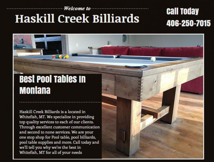 Haskill Creek Billiards AmericanYPcom - Billiard pool table supplies