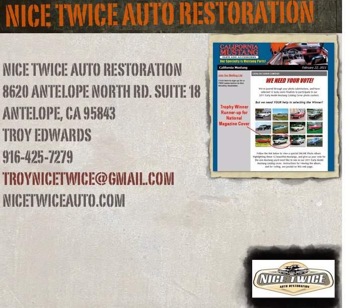 Nice Twice Auto Restoration