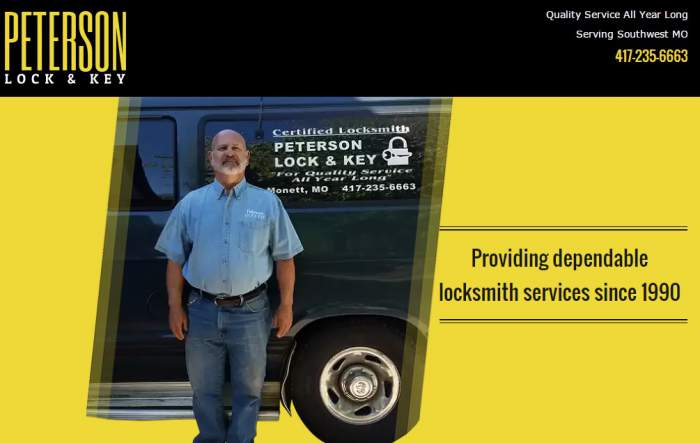 Peterson Lock and Leys (Advanced Locksmith)